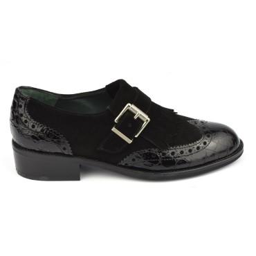 Mocassins cuir noir, 4836, Plumers