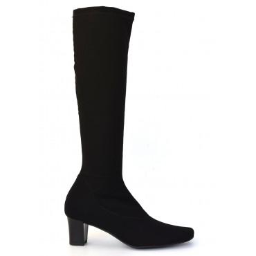 Bottes chaussette, licra, stretch, noires, F1240