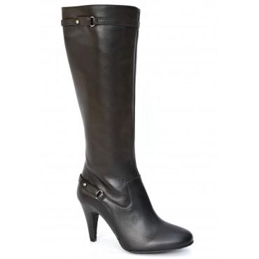 Bottes, cuir vieilli noir, 7201, Yves de Beaumond