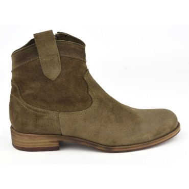 Bottines cuir velour vieilli, Billcody, Nimal