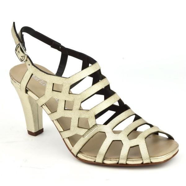 Sandales habillées, cuir doré 3918, Plumers
