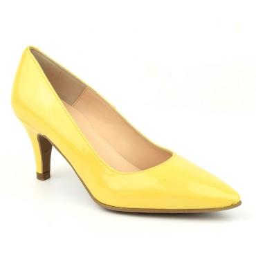 Escarpins Cuir Verni jaune, F97803, Brenda Zaro