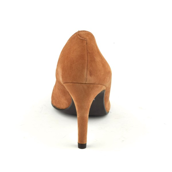 Escarpins cuir verni, Brenda Zaro, Bride, talon 6,5 cm, noires, bouts ronds, Dila, F1128