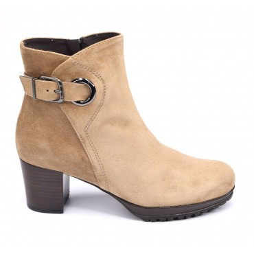 Bottines Daim Camel 5047, Plumers