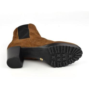 Sandales coque, talons compensés, cuir daim, mauve lilas , XA0287, Zoo Calzados