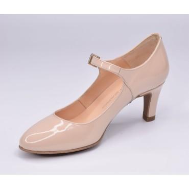 Sandales mi-fermées, talons compensés, cuir daim, noir , XA0230J, Zoo Calzados