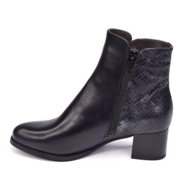 Sandales compensées, verni noir, XA0094J, Zoo Calzados