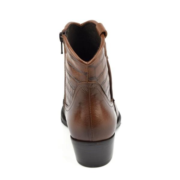 Sandales, cuir fantaisie, talons compensés, daim marron, MI-350, Yves de Beaumond