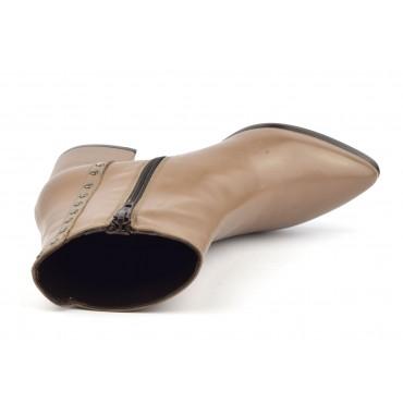 Sandales, cuir fantaisie, talons compensés, daim vert, MI-350, Yves de Beaumond
