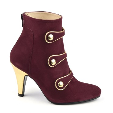 Bottines Daim Bordeaux, MI-653, Maria Jamy