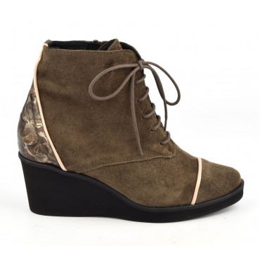 Bottines Compensée Daim Marron, XA0207€ Xaira