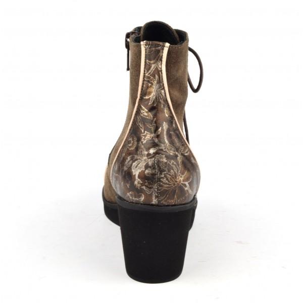 Sandales coque, talons carrés cuir daim rose, MI-, 636, Yves de Beaumond