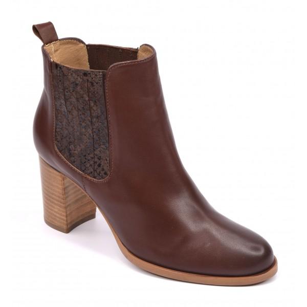 Boots style santiag, cuir lisse noir, 5789 Plumers Menorca