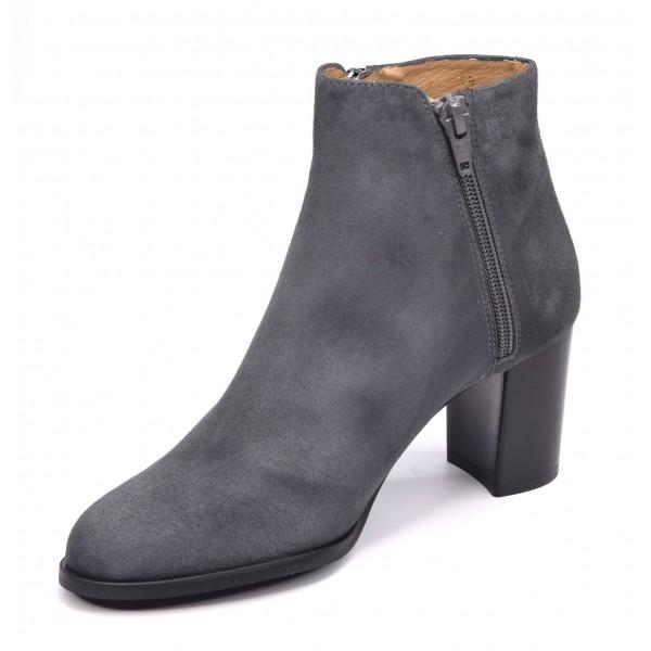 Boots style santiag, cuir lisse marron foncé, 5789 Plumers Menorca