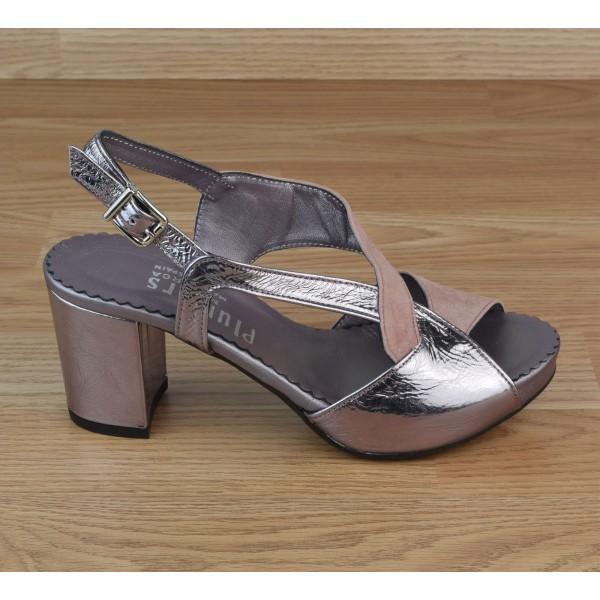 Sandales Plateforme, Daim Rose, 3321, Plumers