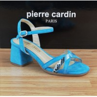 Sandales Daim Bleu Turquoise, Amato, Pierre Cardin