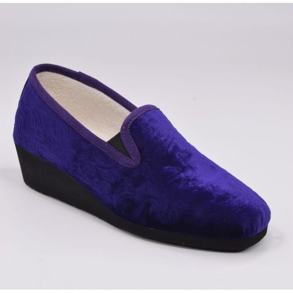 Derby scratch, pieds larges et standards, cuir verni bleu marine, 185708 , PieSanto