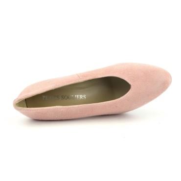 Sandales à plateau, petites pointures, cuir lisse or, 3930, Plumers