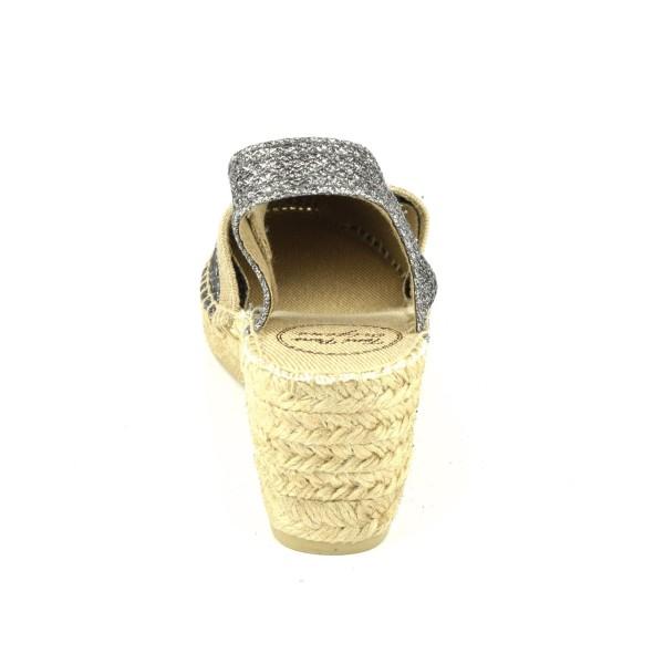 Sandales à plateau, petites pointures, cuir effet brillant, or, 3118, Plumers