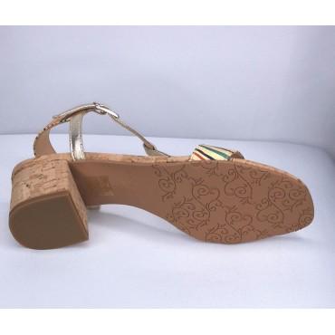 Sandales classiques, cuir lisse, blanc, F1962W1, Brenda Zaro