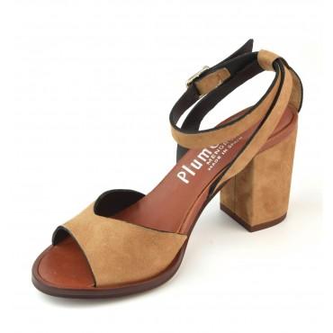 Sandales talon carré, cuir lisse, blanc et multicolor, F3241, Brenda Zaro