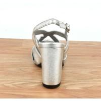 Sandales montantes, lacets, daim, rose poudré, F3259, Brenda Zaro