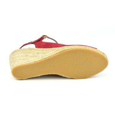 Sandales à plateau, petites pointures, cuir daim nude rosé, 3161, Plumers