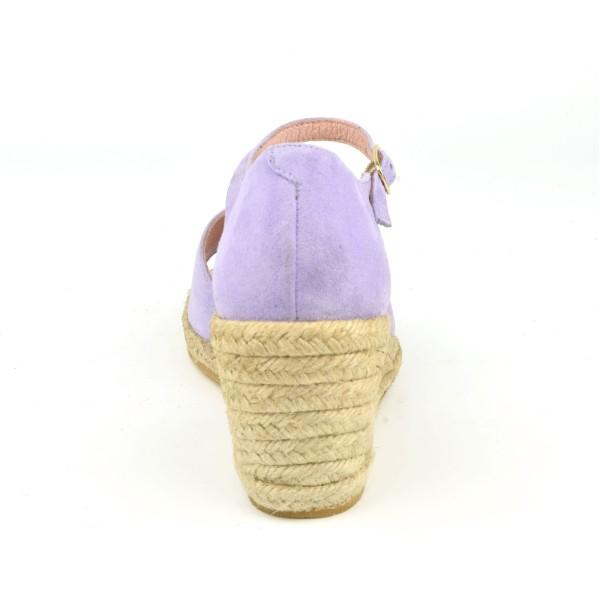 Sandales à plateau, petites pointures, cuir daim camel clair, 3148, Plumers PETITS SOULIERS