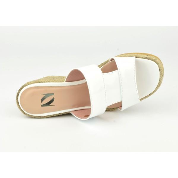 Sandales à plateau, petites pointures, cuir daim corail, 3166, Plumers