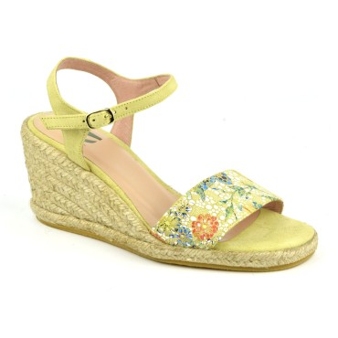 Sandales Compensées, Cuir Fantaisie Nectar, XA0311J, Xaira