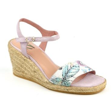 Sandales montantes, petites pointures, cuir daim rouge passion 3109, Plumers