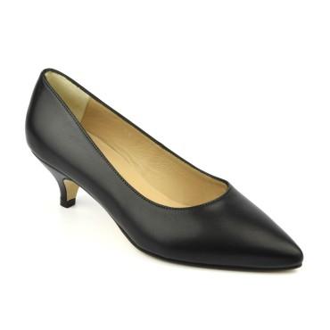 Sandales cuir verni noir, petits talons, F97821, Brenda Zaro
