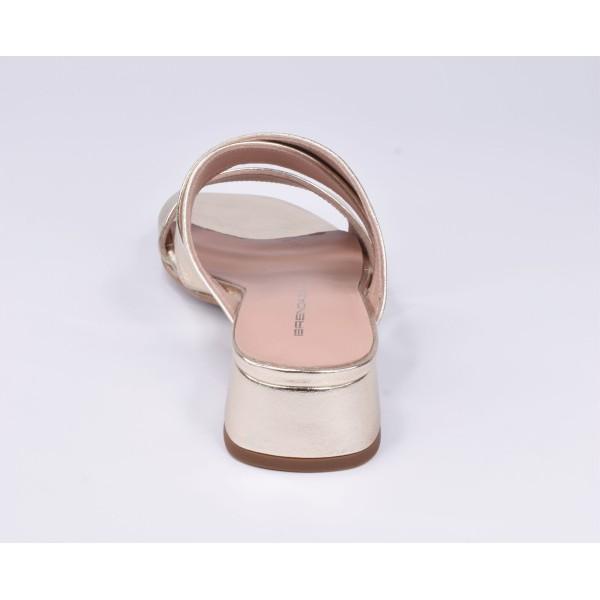 Sandales de soirée résille, daim et verni noir, F3231, Brenda Zaro