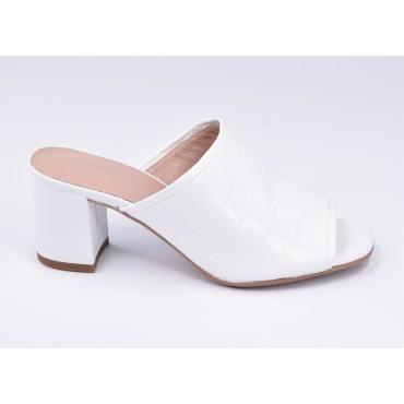 Sandales habillées, cuir argenté, F2674, Brenda Zaro