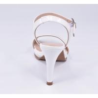 Sandales compensées, tissu dentelle, blanc écru, Astrid-JA , Toni Pons