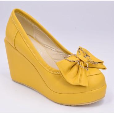 Chaussures compensées,jaune, Angeline petites pointures