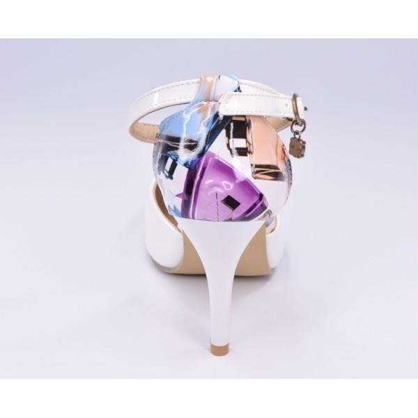 Sandales classiques, cuir lisse, rouge, F3248, Brenda Zaro