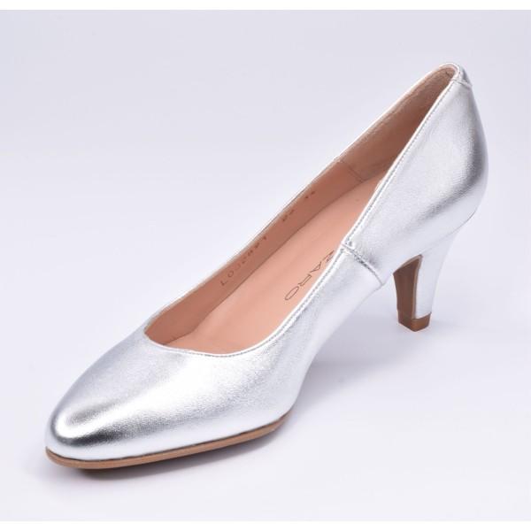 Sandales de soirée cuir lisse argent, F1427D, Brenda Zaro