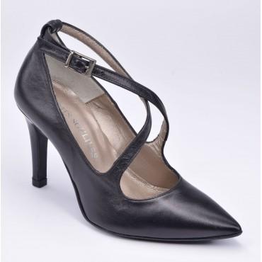Escarpins cuir lisse noir, F1062, Brenda Zaro