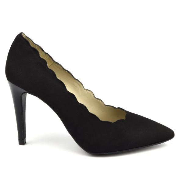 Escarpins cuir verni rouge, Bride, talon 6 cm, bouts ronds, Dila, F1128, Brenda Zaro
