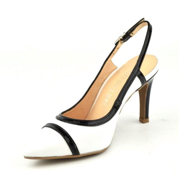 Escarpins cuir lisse, Brenda Zaro, marron clair, talon 6.5 cm, F96136