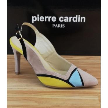 Escarpins Mi-Saison, Cuir Suédine Multicolore Beige Ariane, Pierre Cardin