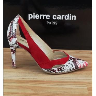 Escarpins Mi-Saison, Daim Multicolore Rouge, Armani, Pierre Cardin
