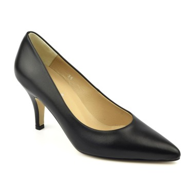 Chaussure, escarpins, femme petite pointure, Rayo, Gennia, noir, vue diagonale
