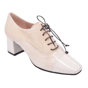 Chaussures Richelieu Cuir Beige, T4203, Brenda Zaro