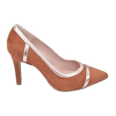 Sandales habillées, cuir daim pailleté noir, F2674, Brenda Zaro