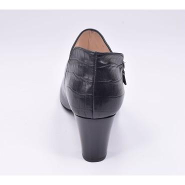 Escarpins cuir enrobé tissu style tergal, Brenda Zaro, talon 8 cm, F96559
