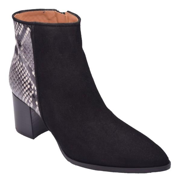 Chaussure, bottines, femme petite pointure, LS3468, Brenda Zaro, noir, vue diagonale