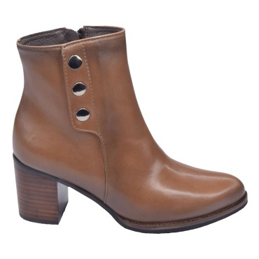 Bottines Cuir Lisse Taupe, 5185, Plumers