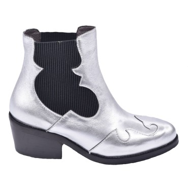 Boots Cuir Argent, 5153, Plumers